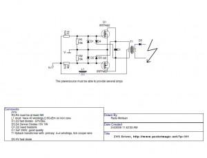 ZVS DRIVER schematics