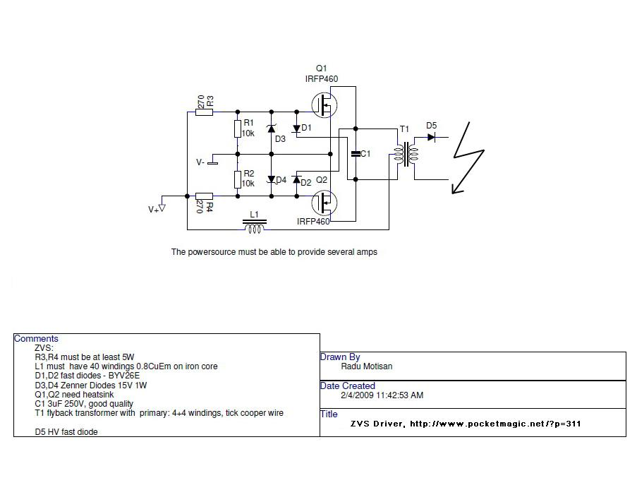 ZVS DRIVER schematics forums high voltage another flyback driver circuit why use flyback transformer wiring diagram at soozxer.org