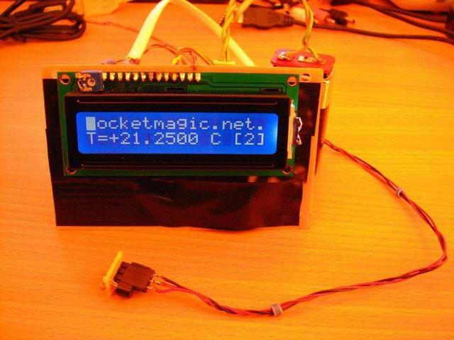 Atmega8 And Ds18b20 Digital Temperature Sensor Pocketmagic