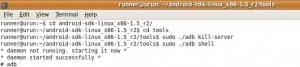 "Android adb error: ""device not found"" on Ubuntu"