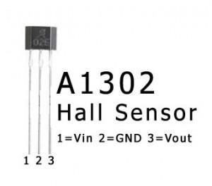 ATmega8 and Hall Sensor A1302
