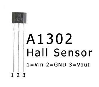 ATmega8 and Hall Sensor A1302