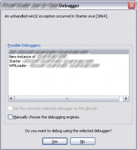 CreateProcess, GetExitCodeProcess and application crash