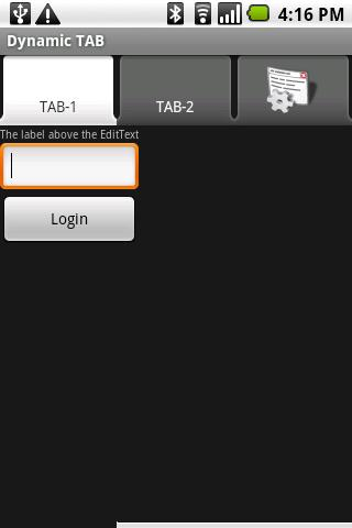 Android dynamic TAB Control