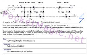 High Voltage Multiplier (Half Wave Villard Cascade) 28 STAGES!