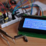ATMega128 and HD44780 LCD using 3 Wires with the 74HC164 | 2037 Views | Rate 22.89