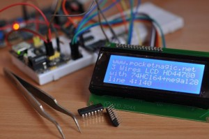 atmega128_lcd_3wires_74HC164_1