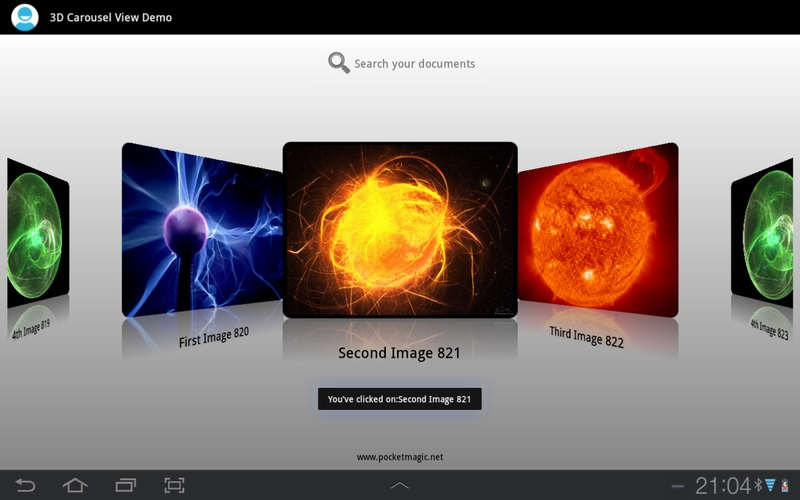 A 3D Carousel View for Android – PocketMagic