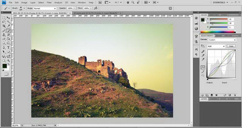 Implement Photoshop-like Curves with Leptonica