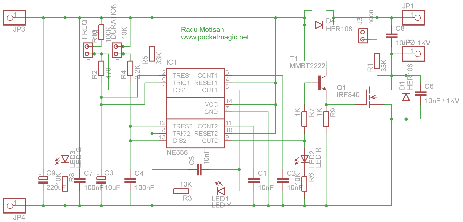 electric fence circuit for perimeter protection pocketmagic rh pocketmagic net electric fence circuit diagram 555 electric fence circuit diagram 555