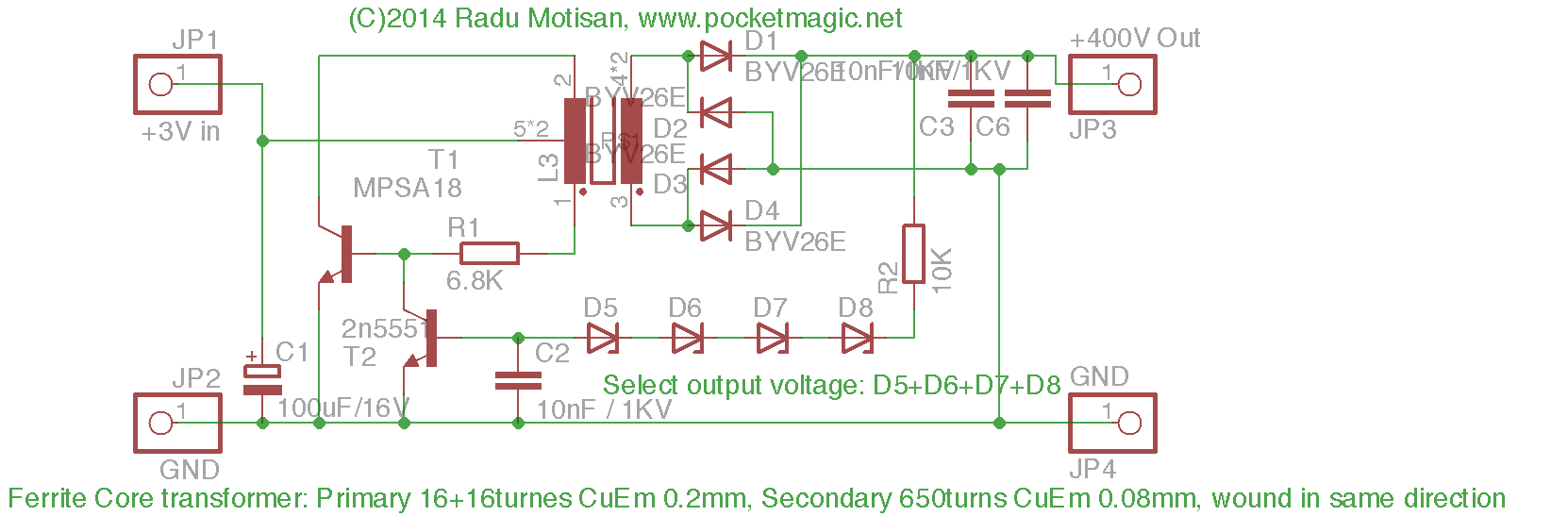 inverter_400V_sch 3v to 400v regulated inverter for geiger counters pocketmagic 400v to 230v transformer wiring diagram at crackthecode.co
