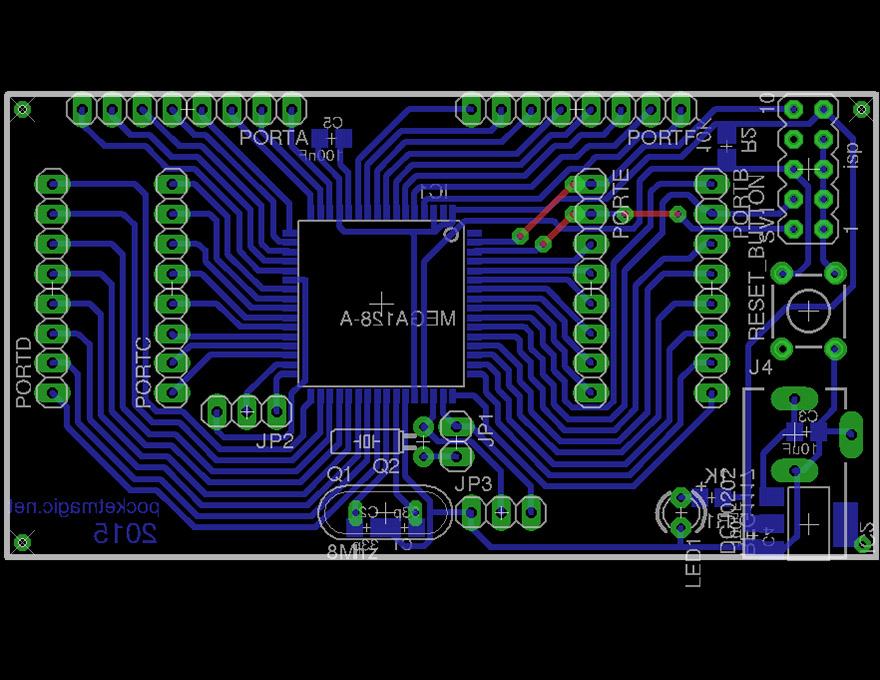 DIY AVR Development Board with Atmega128 – PocketMagic