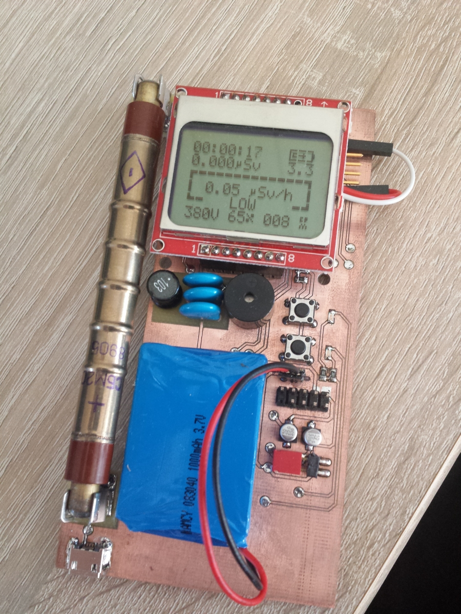 Diy Geiger Counter Kit 11 Pocketmagic Details About Printed Circuit Board Pcb Arduino Kit1 Dosimeter 3d Case Rechargeable Battery 1