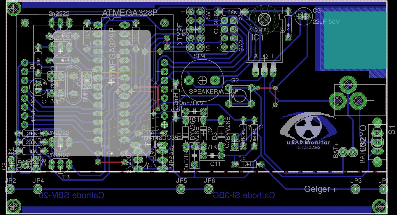 Diy Geiger Counter Kit 11 Pocketmagic Circuit Uradmonitor Kit11 Sch Pcb