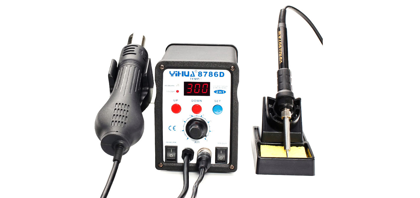 Yihua 8786D Hot air station with soldering iron – PocketMagic